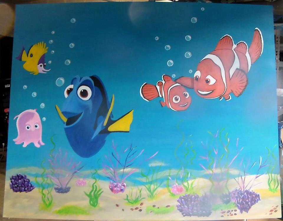 Board in childrensroom Nemo 3 Acrylic