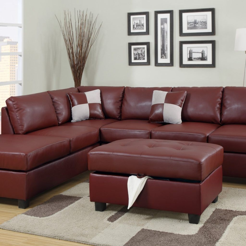 Maroon Leather Sectional Sofa Future Home Idea Sectional Sofa