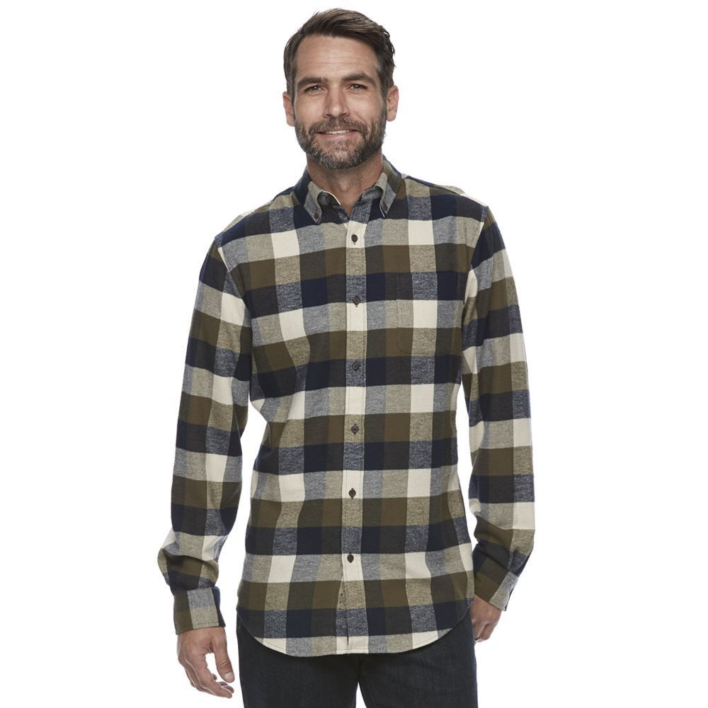 Purple flannel men  Menus Croft u Barrow True Comfort Plaid ClassicFit Flannel Button