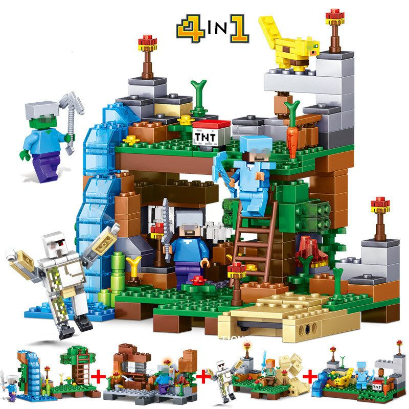 4Pcs/set Minecraft Building Blocks Model Set Compatible with Lego ...
