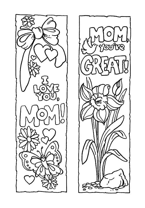 Bookmarks, Mother's Day Bookmarks: Mother's Day