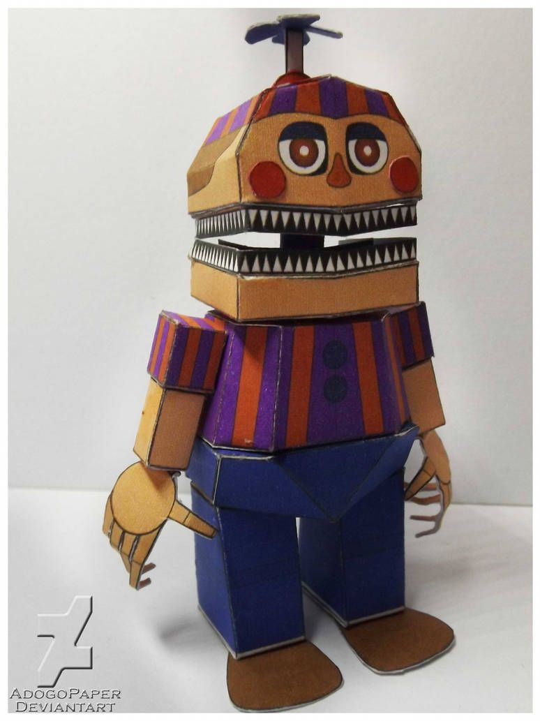 Fnaf 4 Nightmare Balloon Boy Papercraft By Adogopaper With Images
