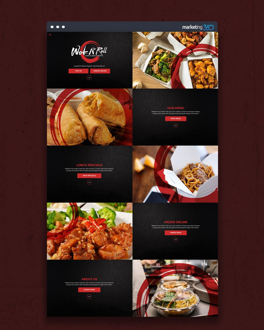 Design Of The Day Chinese Food Restaurant Website Design Concept By Our Talented Designer Hol Restaurant Website Design Chinese Food Restaurant Lunch Specials