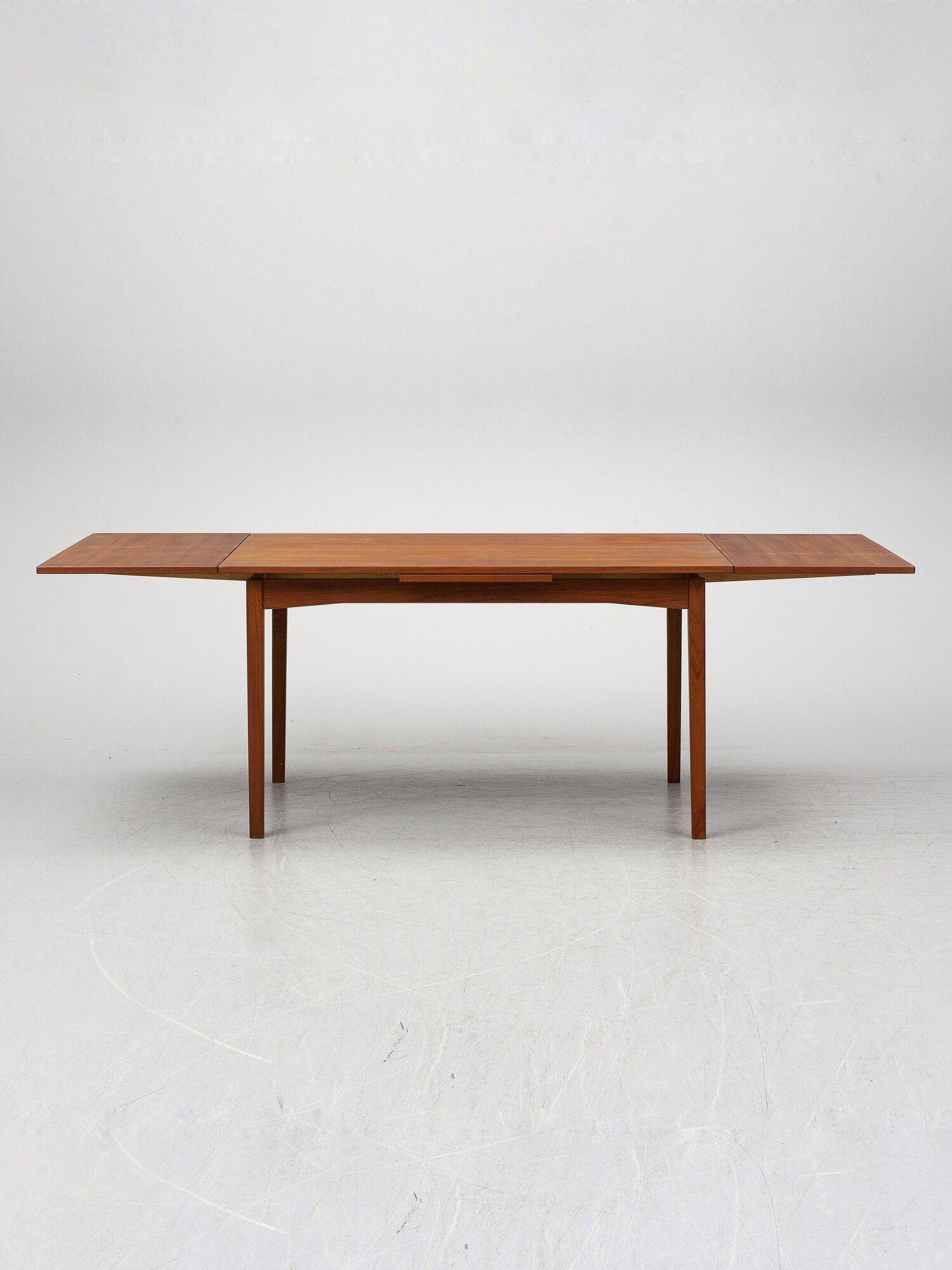 Midcentury Expandable Teak Dining Table Made In Sweden Midcentury Scandinavian Vintage Furnitur In 2020 Teak Dining Table Dining Table Vintage Scandinavian Furniture