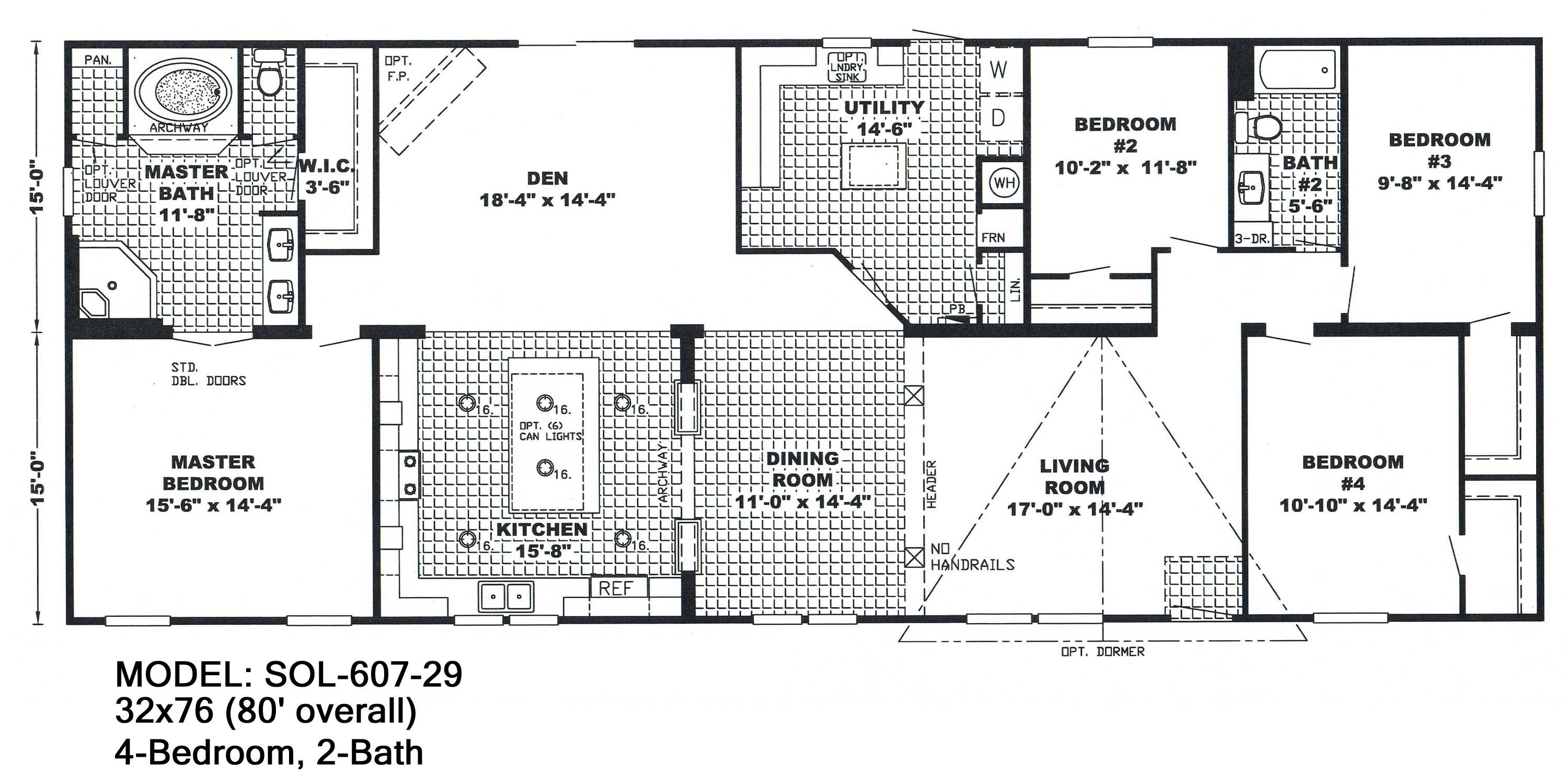 Double Wide Floor Plans 3 Bed 2 Bath Mobile Home Floor Plans Floor Plans Mobile Home Doublewide