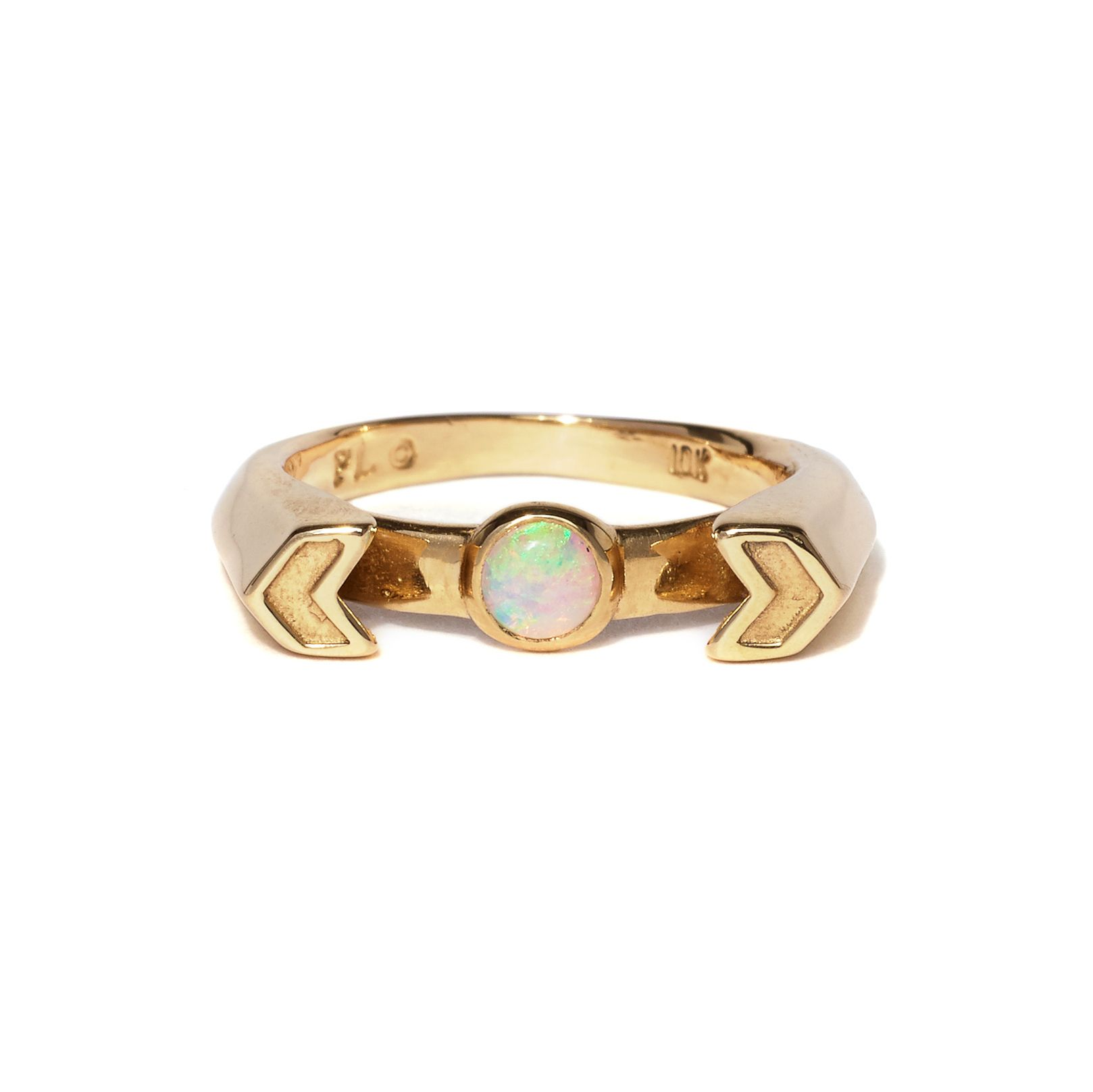 Our Exclusive 10k Gold Chevron Reveal Ring With Opal Wedding Accessories Jewelry Chevron Jewelry Stackers Jewellery