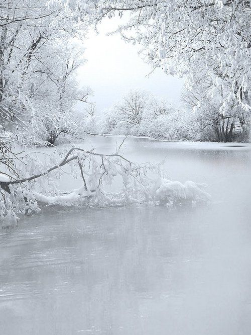 French creek in winter.
