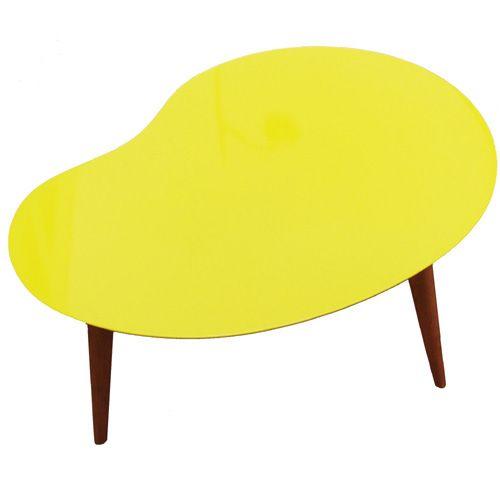 table basse design lalinde jaune | table basse | pinterest