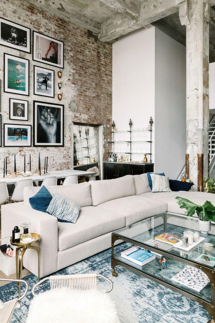 a modern industrial brooklyn loft d co loft. Black Bedroom Furniture Sets. Home Design Ideas