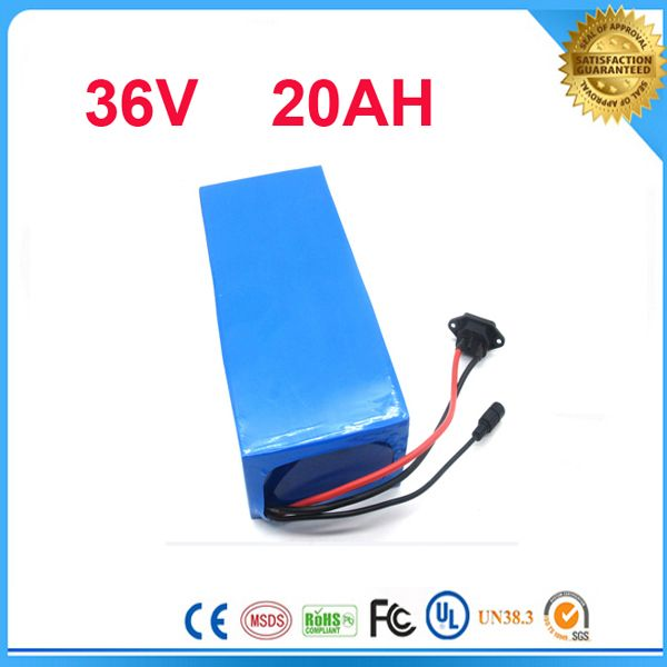 5pcs Free customs taxes   Ebike 1000W 36V 20Ah Lithium battery for 36v  Bafang 500W 1000W Bicycle Battery with BMS and Charger