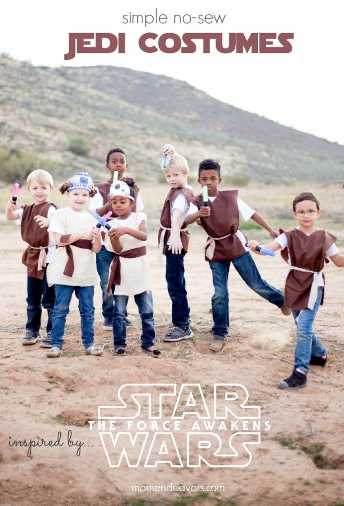 Simple No-Sew #StarWars Jedi Tunic Costumes via Sara