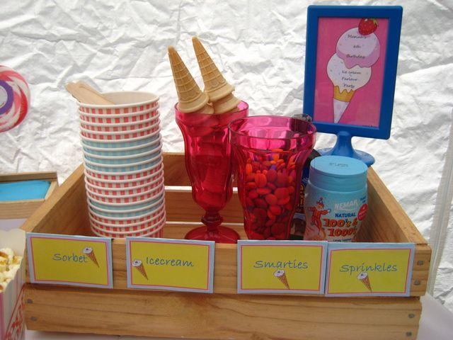 DIY Ice Cream Bar at a Ice Cream Party #icecream #party