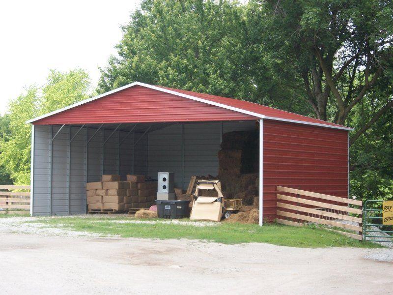 Boxed Eave Roof Triple Wide Steel Carport Steel carports