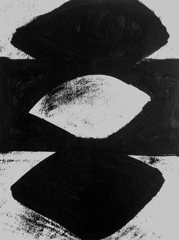 8x10 abstract original painting acrylic art modern black and white original minimalist geometric small paint