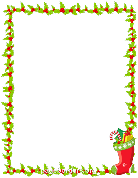 It's just a picture of Free Printable Christmas Borders pertaining to santa