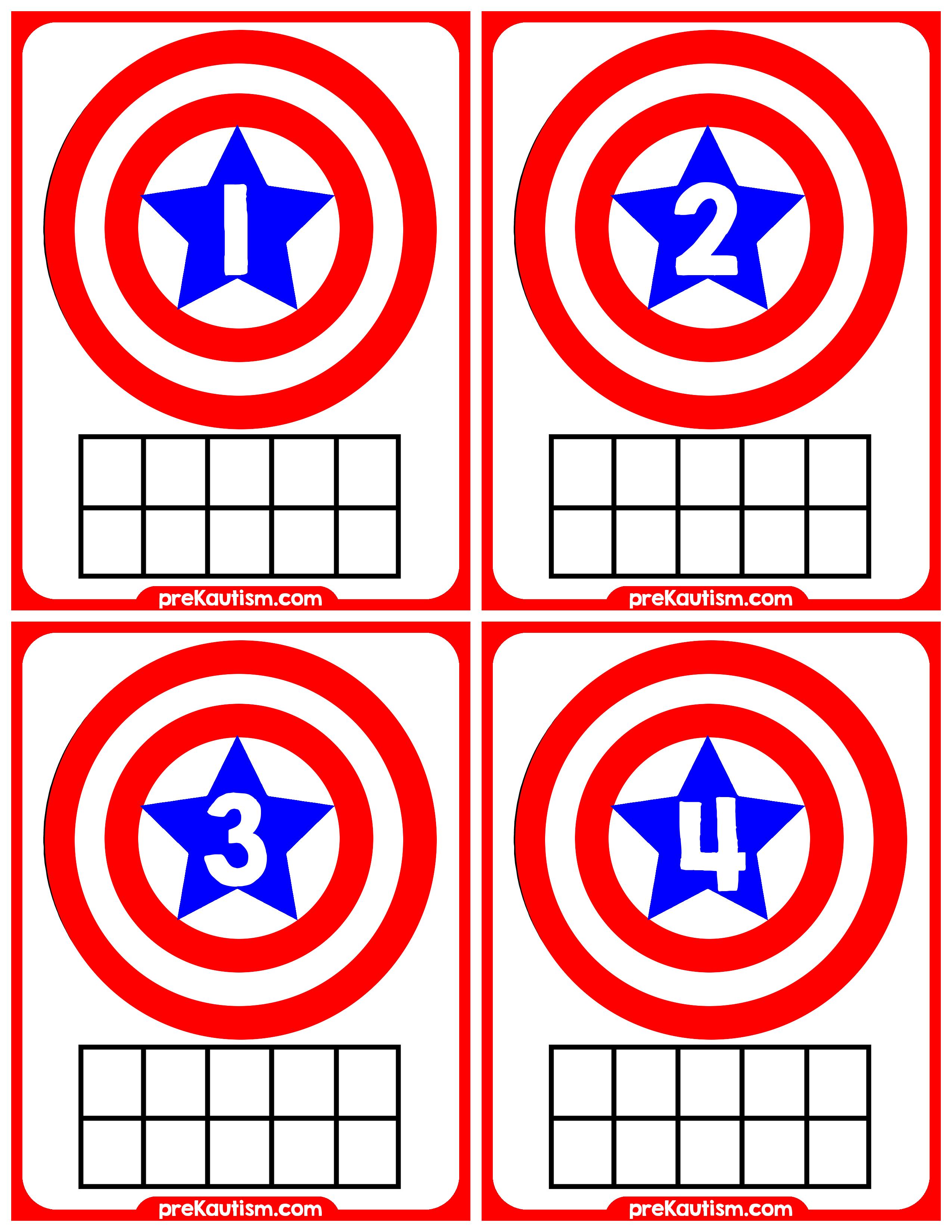 Captain America Ten Frames