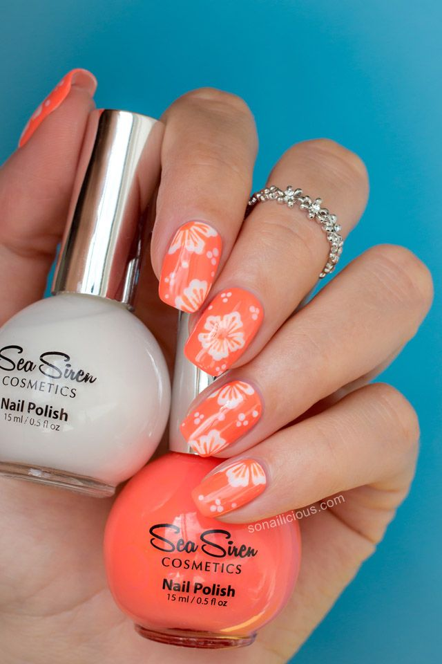 20 Super Pretty Floral Nail Designs | Warm weather, Toe nail art and ...