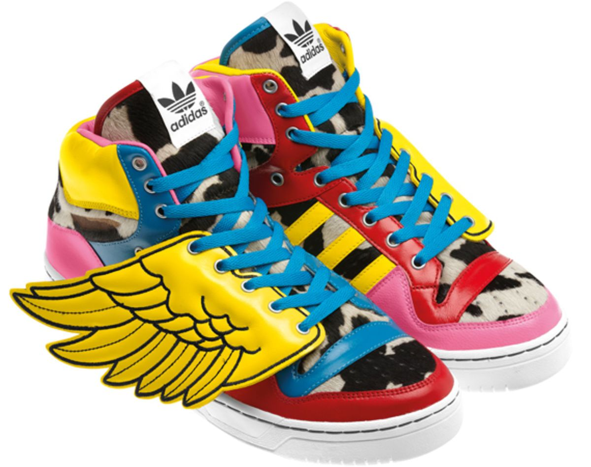 timeless design 96ad0 d8461 2NE1 x adidas Originals by Jeremy Scott JS - Collage Wings - Freshness Mag