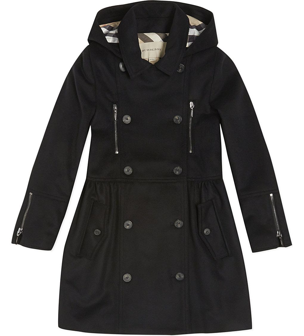BURBERRY - Double breasted wool coat 4-14 years | Selfridges.com