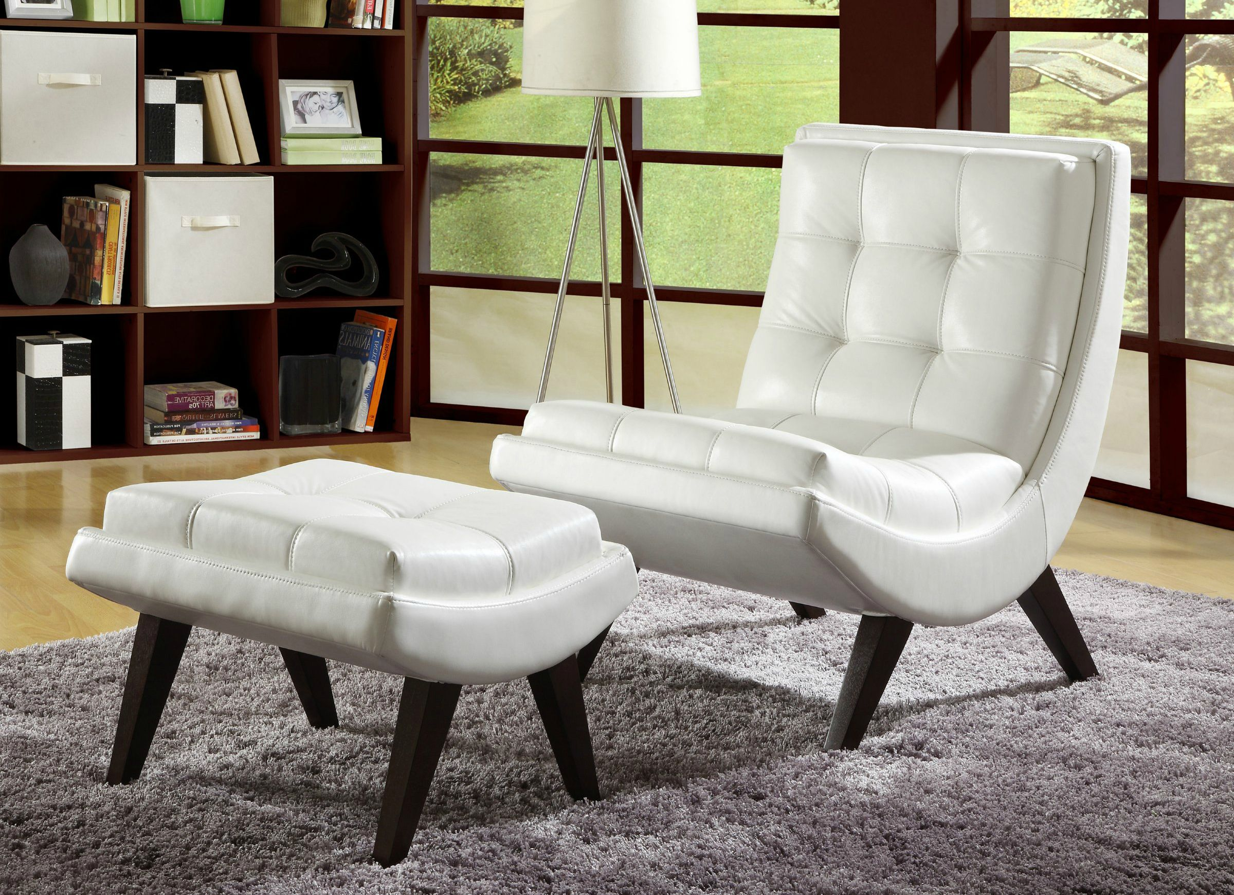11+ White leather living room chairs ideas