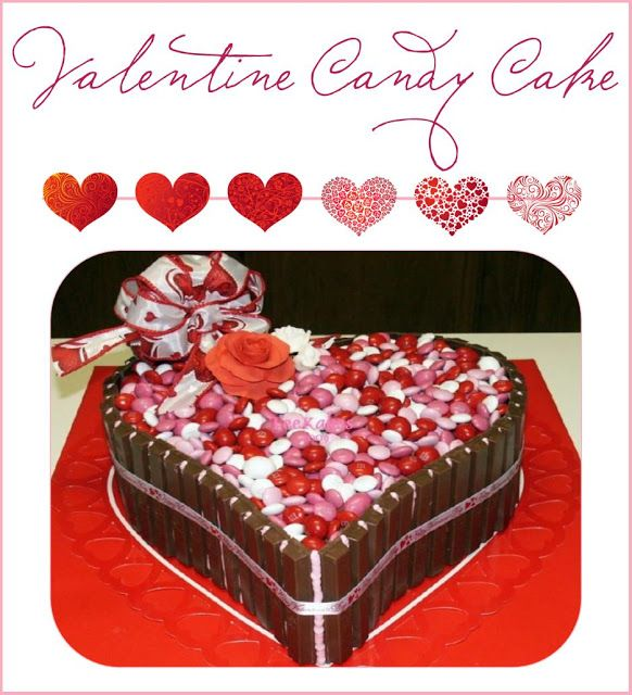 Valentine S Day M M S Kitkats Chocolate Cake Plus A Candy