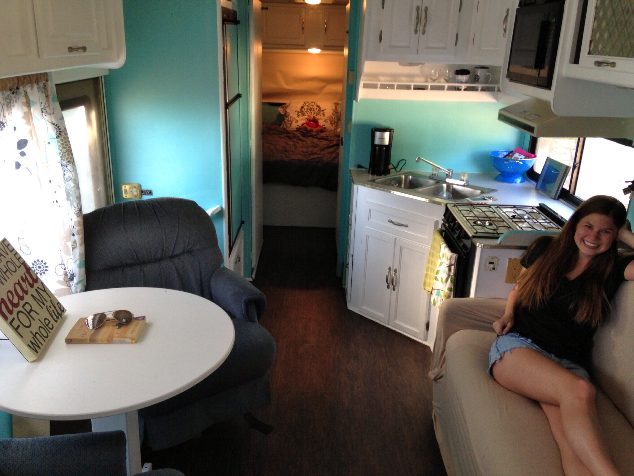 Diy rv interiors - Class C Remodel Paint And Curtains