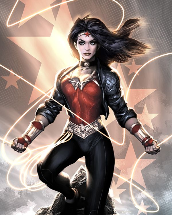 A modern day Wonder Woman look I can really get behind.