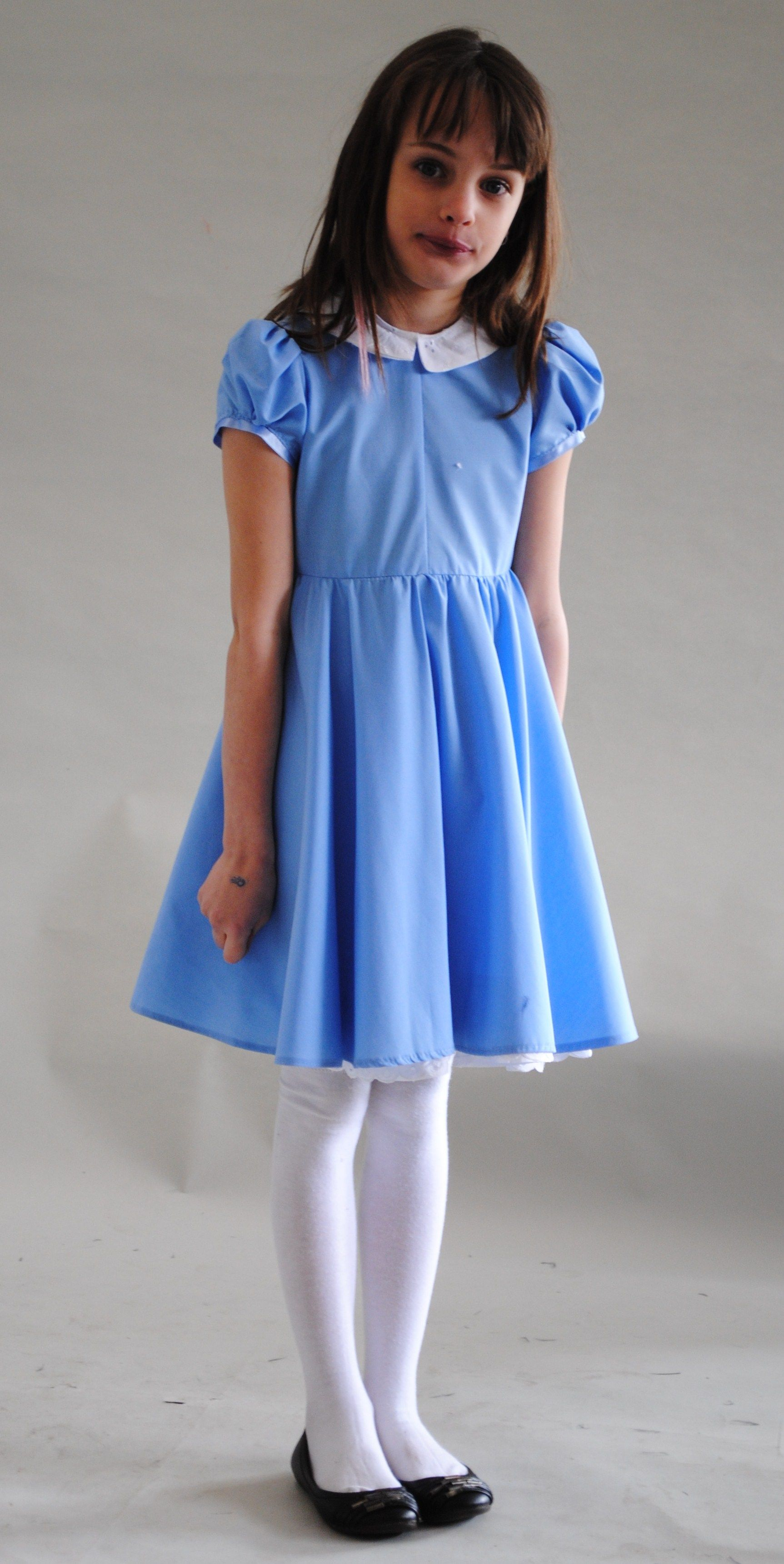 Girls Matilda Costume Roald Dahl Book Day Character Costume Fancy Dress Outfit