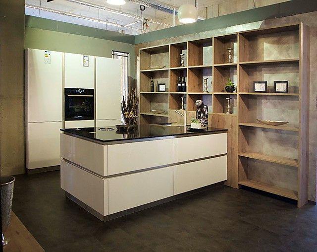 Details zur Apéro Küchen-Musterküchen Lack weiß grifflos BORA Bosch