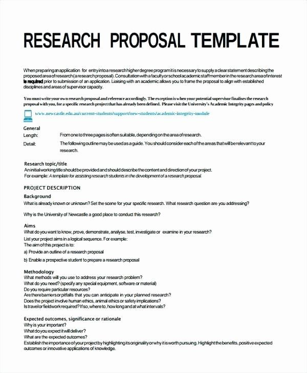 Project Proposal Format For Student New Research Project