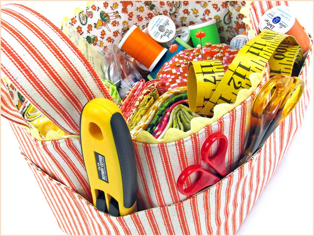Re-imagine & Renovate: Structured Fabric Task Baskets   Sew4Home