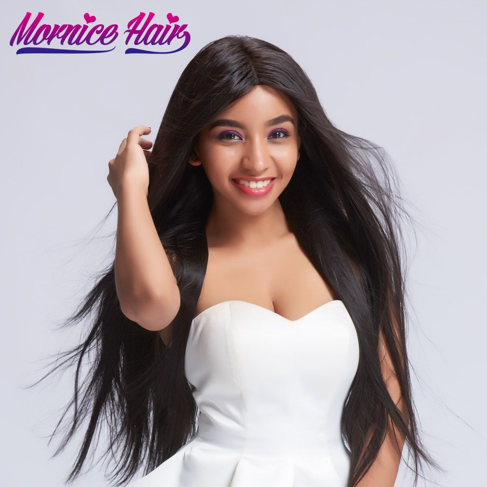 Mornic Peruvian Straight Hair Bundles 100 Human Hair Bundles Double