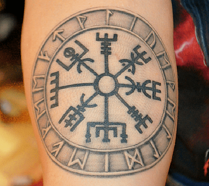 Image of Vegvisir Tattoo Viking Tattoo