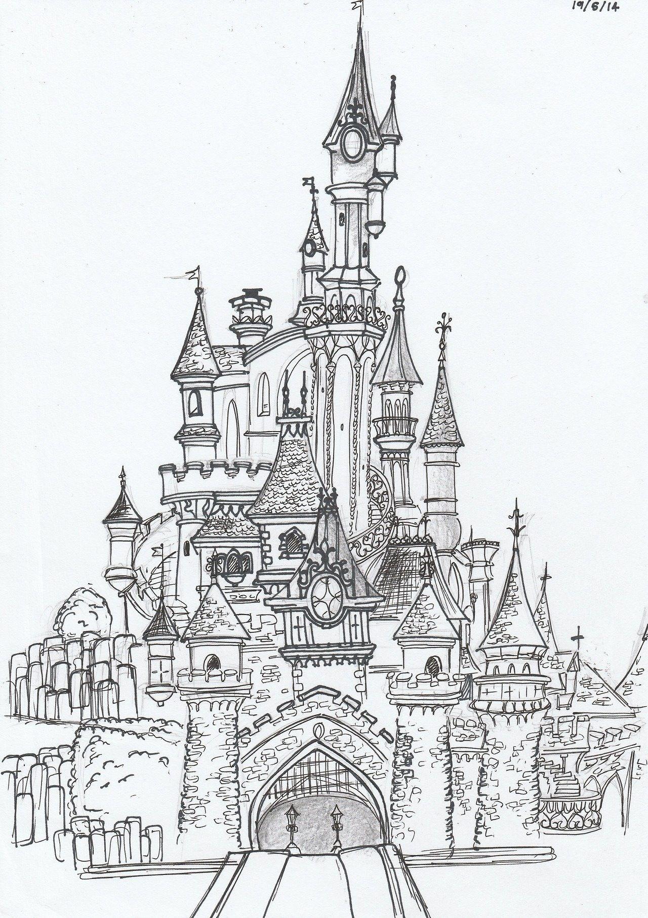 Pin by Laura En La Nube on Disney  Disney castle drawing, Castle