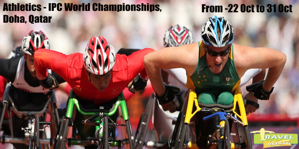 2015 IPC Athletics World Championships !  1300 Athletes from 100 Countries.  10 days of competition.   With 55 world records in 2013, let's see how many we witness this year.   ARE YOU COMING ?  Plan your trip with www.travelheyday.com and go beyond incredible at Doha.