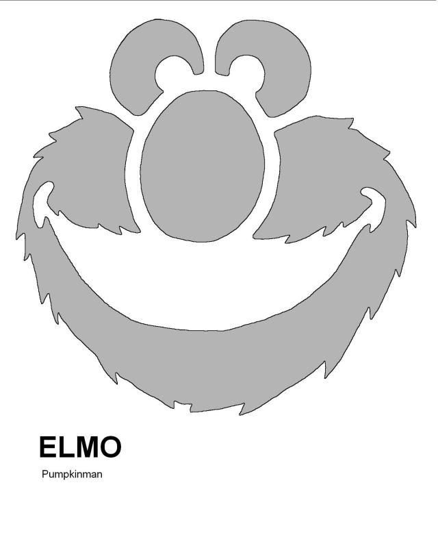 pumpkin template elmo  7 Days of Halloween Hijinks Bonus Post: Free Elmo Pumpkin ...