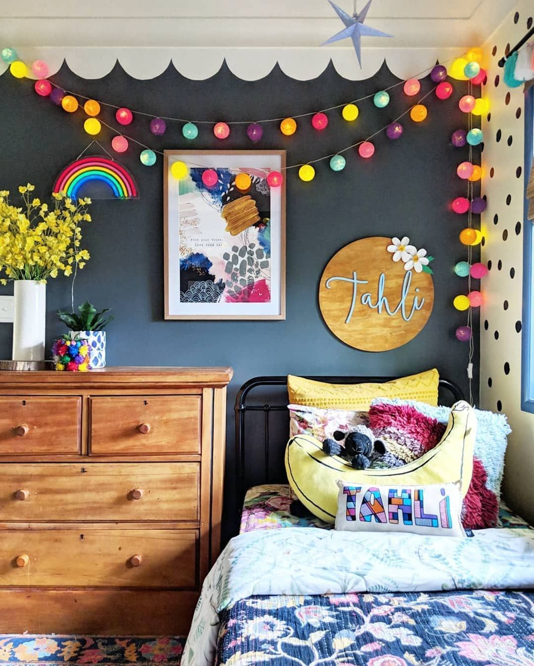 """Photo of #kidsroom Brandi Love 🎨🌈🖼️'s Instagram post: """"I'd share my top 9 posts for 2018 but it's literally all pictures of this room! 😂 Thanks for loving this room as much as me this year. 😘❤️…"""" – kidsroom"""