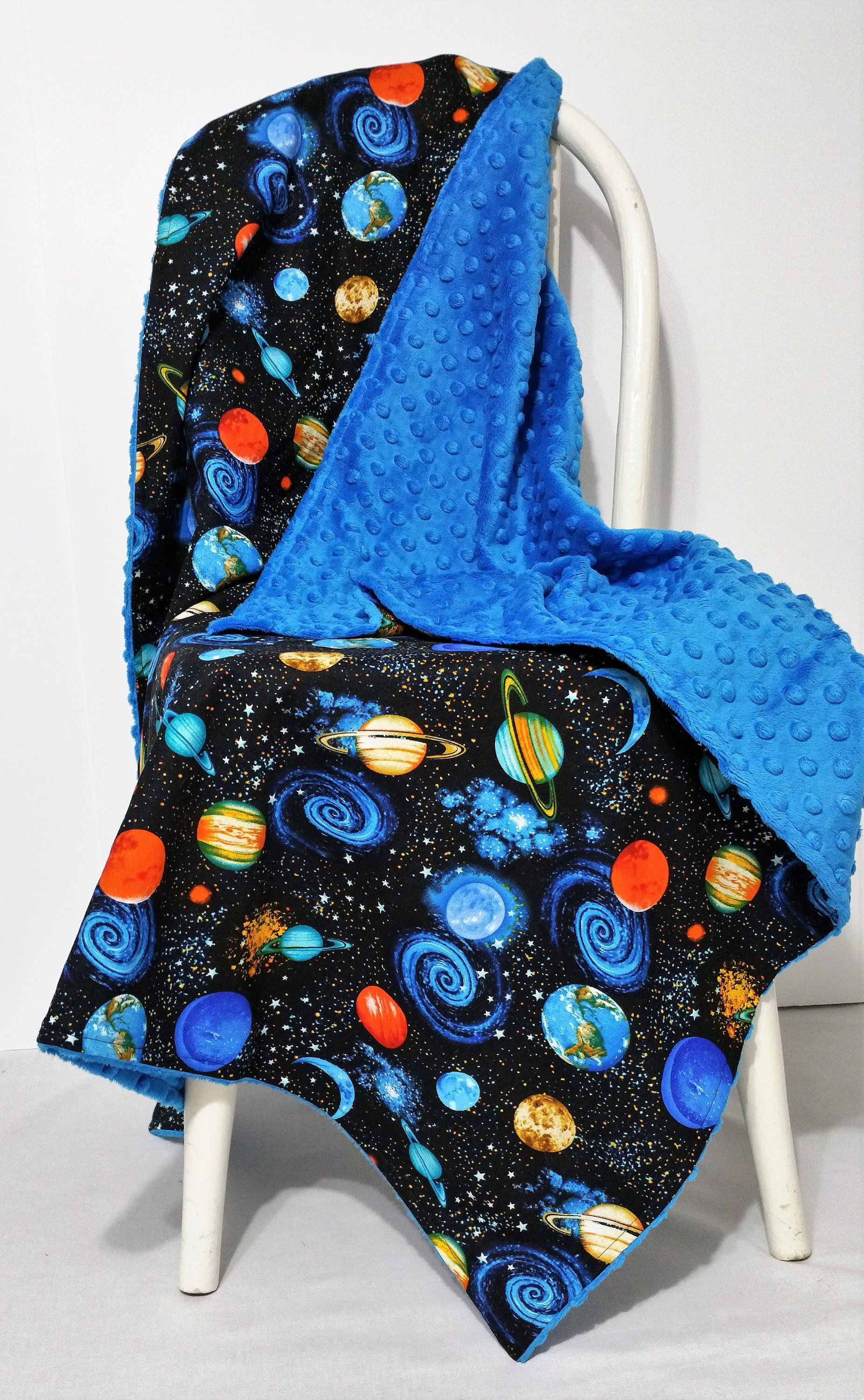 Outer space baby blanket space nursery gender neutral ...