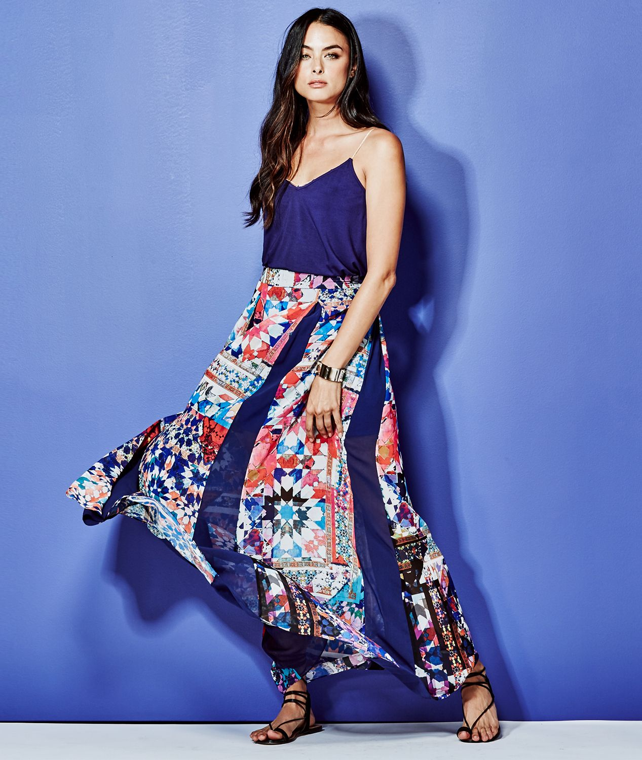 41d54b4946 The Moroccan-inspired Kaleidoscope Maxi Skirt | MARCIANO.com | NOW ...