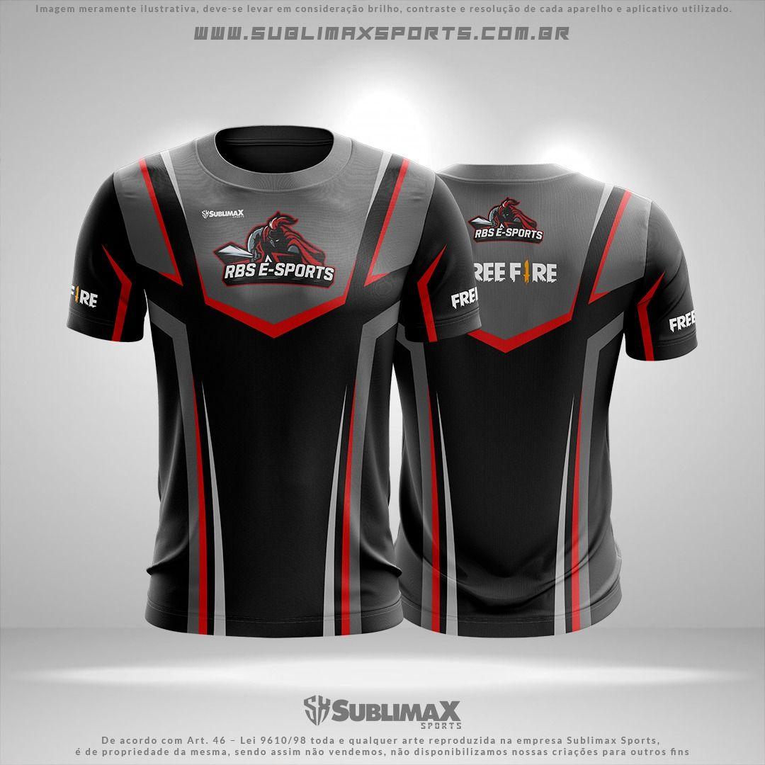 Camisa Free Fire E Sports Gamer Camiseta Personaliza Jogos Em 2020