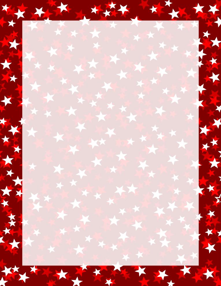 Red Stars Three Tone Border Free Borders And Clip Art Com Borders And Frames Clip Art Borders Page Borders Design