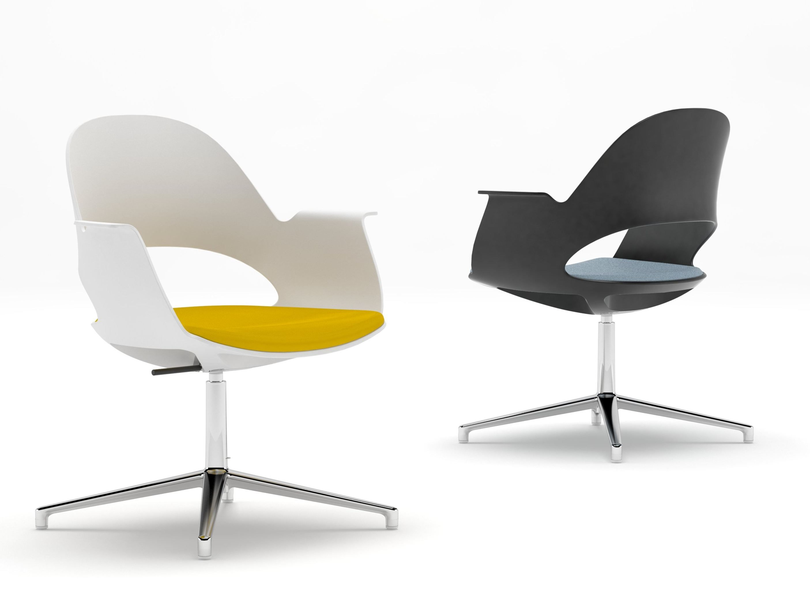 Height adjustable swivel chair ALAVA Waiting room chair by NURUS