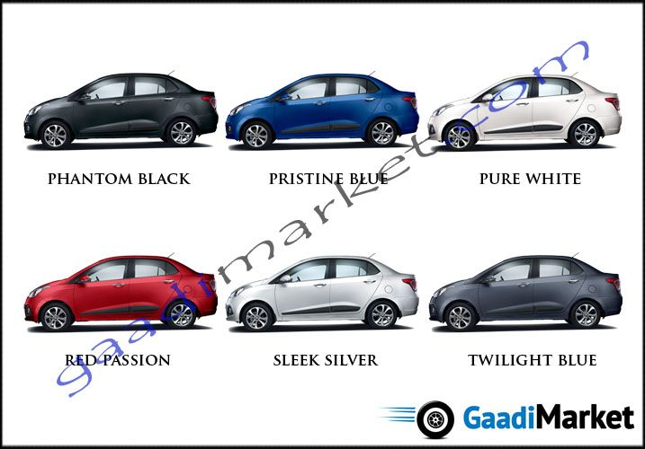 Xcent Colours New Hyundai Hyundai Pure Products