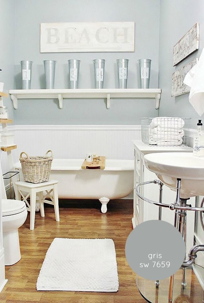 Best blue paint colors for any space inspirational - Rustic farmhouse interior paint colors ...