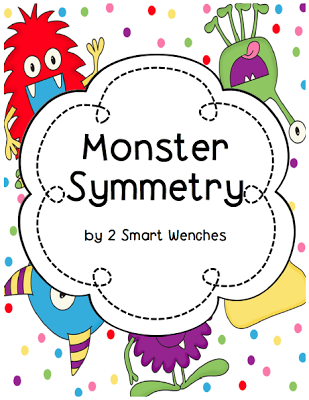 Here\'s a monster themed activity for working on symmetry. Also ...