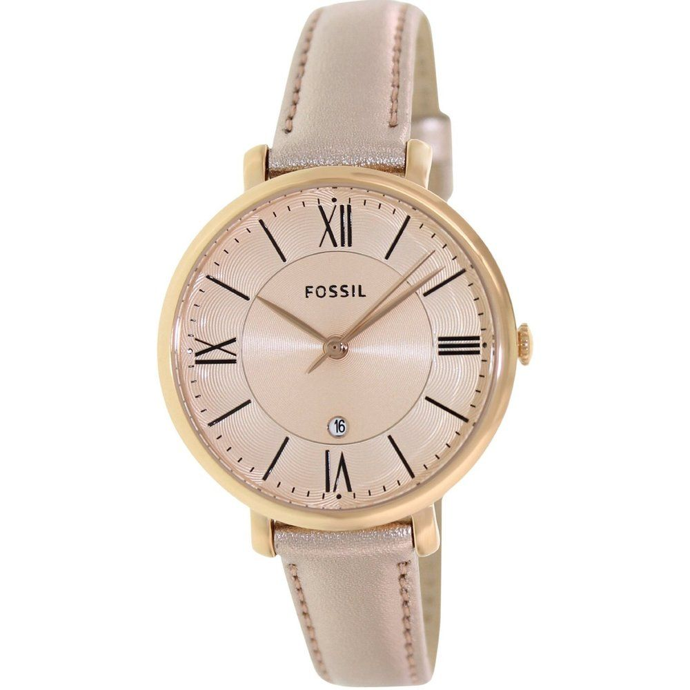 fossil women 39 s jacqueline three hand leather watch in 2019 watches fashion watches fossil