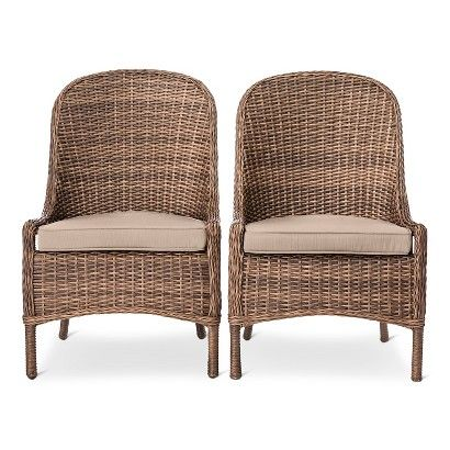 Threshold Mayhew All Weather Wicker Dining Chair 2pk