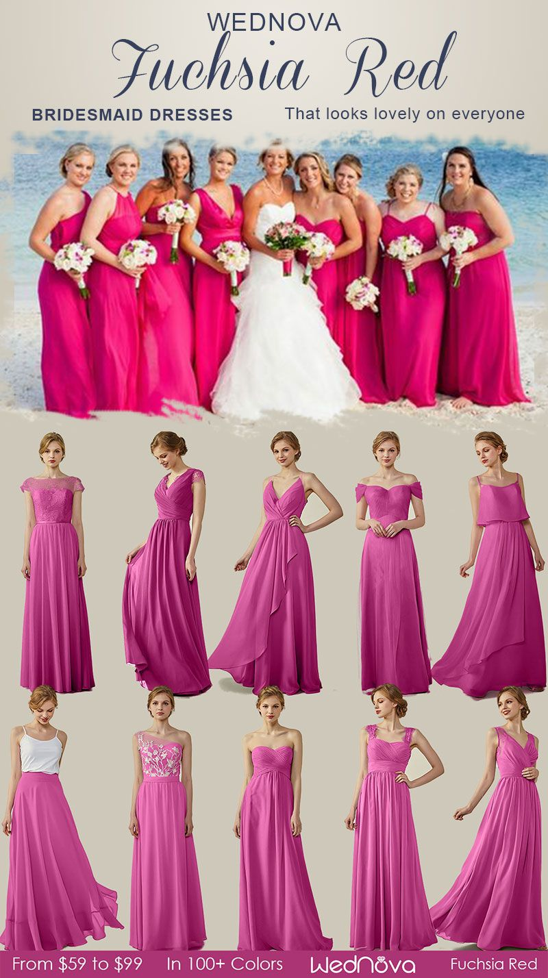 10 High Quality Bridesmaid Dresses Fuchsia Red Sweetheart Dress On Sale Classy Dresses With Lace Long W Wedding Dresses 2017 Trend Bridesmaid Wedding Dresses