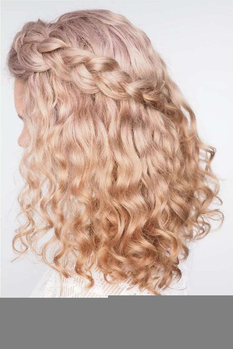 Stunning Wedding Hairstyles For Naturally Curly Hair Curly Hair Styles Naturally Curly Hair Styles Curly Hair Braids