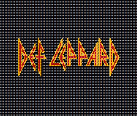 DEF LEPPARD Crochet Afghan Blanket Pattern Graphghan Classic Magnificent Pattern Def